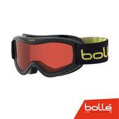 法國 Bolle AMP 兒童款 雙層鏡片設計 防霧雪鏡 黑麋鹿/朱紅 #21578