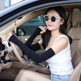冰爽袖套男女防曬防紫外線護臂手臂套冰絲袖套開車手套加長款夏季