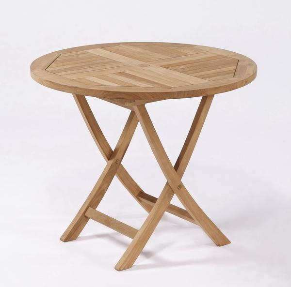 【南洋風休閒傢俱】戶外餐桌椅系列-100公分柚木圓桌  實木圓桌   戶外野餐桌 (#100T)
