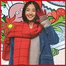 <特價出清>秋冬韓版格子圍巾披肩兩用 白百合明星同款 兩色任選【AF09068】i-style居家生活