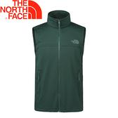 【The North Face 男款  抗風保暖背心《綠》】366KWHV/保暖背心/背心