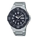 CASIO 卡西歐 手錶專賣店 MRW-200HD-1B CASIO 指針男錶 三折式不鏽鋼錶帶 黑白錶盤 防水100米