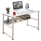 書桌台 簡易電腦桌台式家用簡約現代經濟型書桌寫字台辦公桌子學生學習桌【美物居家館】