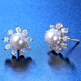耳環 925純銀鑲鑽-高貴奢華生日情人節禮物女飾品73hk37[時尚巴黎]