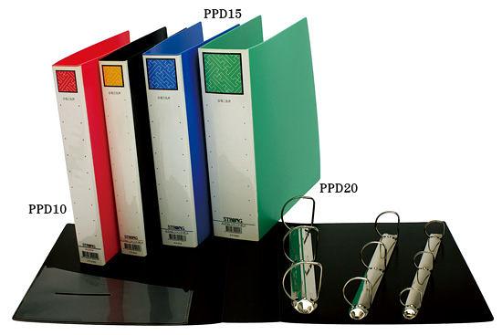 自強牌  PPD10  三孔D型夾(一打裝)
