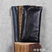 手工錢包頭層牛皮錢夾簡潔大方原創設計男女情侶款 卡布奇諾