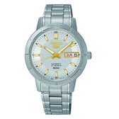 SEIKO 精工 5號盾牌羅馬機械腕錶 7S26-04T0S(SNKP15J1)銀x白
