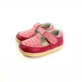 寶寶 魔鬼氈  星星皮革內裡 包頭護趾涼鞋 學步鞋《7+1童鞋》D545 粉色