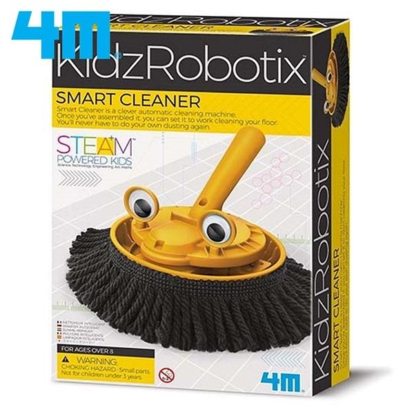 又敗家4M科學掃地機器人Smart Cleaner掃地機械人00-03380科玩KidzRobotix清潔robot