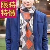 針織圍巾-羊毛品味時尚加厚禦寒保暖男女圍脖4色61y15【巴黎精品】