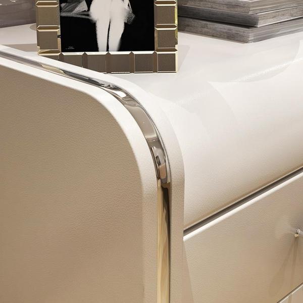 床頭櫃 皮質床頭櫃 簡約現代床邊櫃簡易收納櫃 北歐臥室儲物櫃整裝床邊櫃 WJ【米家科技】