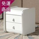床頭櫃 JF熱賣皮質床頭柜簡約現代收納柜...