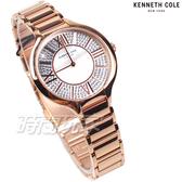 Kenneth Cole 羅馬時刻 漫天星鑽 鑽錶 珍珠螺貝面盤 女錶 不銹鋼 玫瑰金 KC51011002