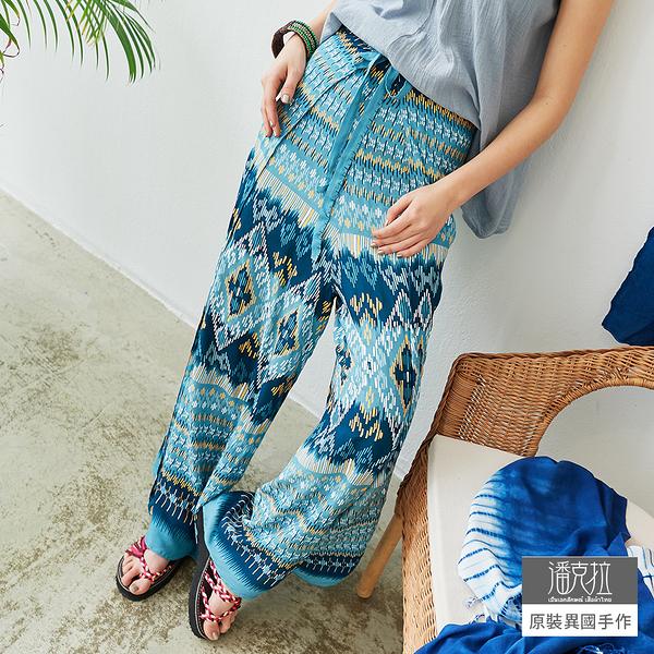 【潘克拉】兩片式前後綁帶寬褲 TM1036-1 FREE淺藍