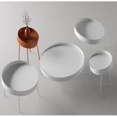 金屬創意圓形客廳茶幾廚房吃飯桌茶室泡茶桌子室內茶幾邊幾角幾