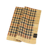 DAKS 純棉經典格紋帕巾(棕色)