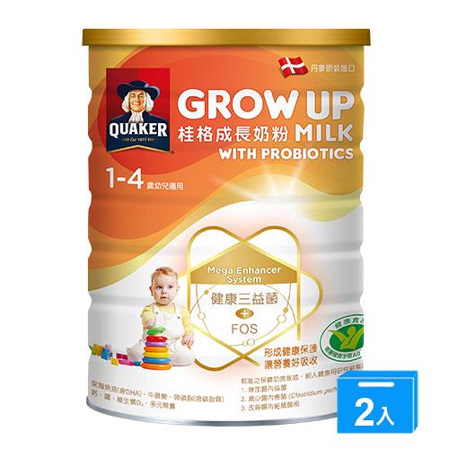 桂格GROW UP成長奶粉三益菌1500gx2【愛買】