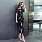 新款氣質休閒涼感棉麻九分褲套裝女兩件套 ZL552『miss洛羽』