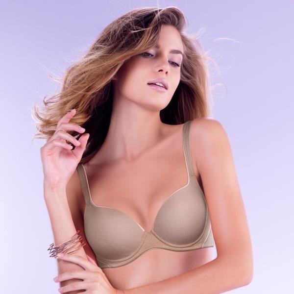 【南紡購物中心】【Triumph 黛安芬】Home Bra-紓壓軟鋼圈系列D-E罩杯內衣(知性裸)