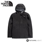 【The North Face 男 FL防水外套《黑》】46LB/防風外套/防水夾克/防水透氣衝鋒衣