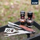 丹大戶外【KAZMI】KZM4合1不鏽鋼燒烤工具組 K20T3O010 露營/多功能炊具/燒烤用具