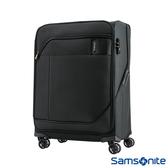 Samsonite新秀麗 24吋Janik商務功能性飛機輪TSA布面行李箱(黑色)