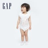 Gap嬰兒 Gap x Disney 迪士尼系列純棉包屁衣 682758-白色