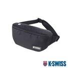 K-SWISS KS Patch Waist Bag運動休閒腰包-黑