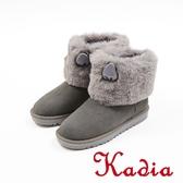 ★2017秋冬新品★kadia.溫暖冬季-甜美可愛兔子耳多真皮雪靴(7716-83灰)