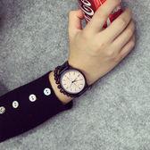 時尚潮流手錶男學生正韓簡約大表盤女表皮帶情侶表手錶男石英表