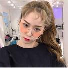 韓國潮金屬大框眼鏡可愛眼鏡框女 文藝復古...