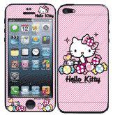 Hello Kitty彩繪貼 iPhone 5s 5 iPhone SE 螢幕保護貼+背蓋貼  (805)