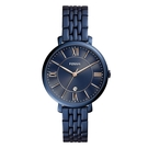 FOSSIL 深藍流光不鏽鋼女錶(ES4094)-深寶藍色x36mm