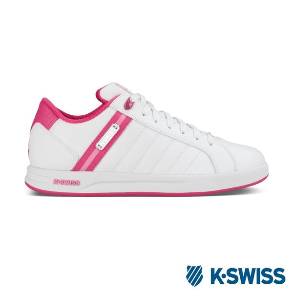 K-Swiss Loudahl WT S 休閒運動鞋-女-白/莓紅/粉紅