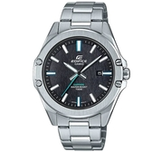 CASIO EDIFICE輕薄藍寶石玻璃鏡面不鏽鋼錶-黑面(EFR-S107D-1A)