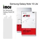 【iMos】3SAS系列保護貼 Samsung Galaxy Note 10 Lite (6.7吋) 超潑水、防污、抗刮