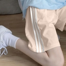 五分褲 運動短褲女夏寬鬆ins潮外穿跑步韓版休閒高腰bf風中褲直筒五分褲 寶貝