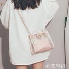 高級感洋氣女包2020新款夏天時尚斜挎包女百搭ins單肩透明果凍包 小艾新品