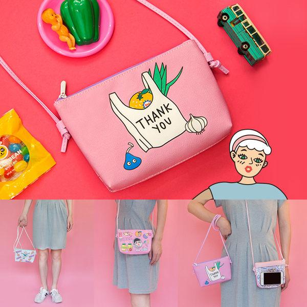 斜背包-搞怪手機包/收納包/零錢包-共4色-B300010-FuFu