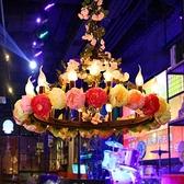 吊燈 繁花酒吧大音樂餐廳玫瑰花裝飾大廳火鍋店包間藝術 現貨快出YJT