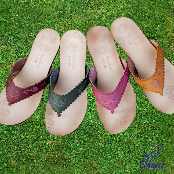 包鞋。Cheers*民族風圖騰簡約古典拖鞋-五色 現貨【ML201201916】