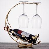歐式紅酒杯架倒掛架子家用葡萄酒杯架現代簡約酒柜酒架紅酒架擺件