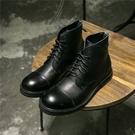 找到自己內男士靴子真皮高幫鞋系帶後拉鏈大頭皮靴