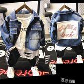 兒童外套秋季韓版牛仔衣男童夾克服童裝外衣貼布破洞潮流百搭 道禾生活館