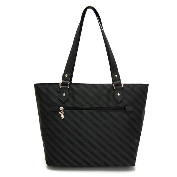 PLAYBOY- 托特包 時尚黑潮系列 -黑色