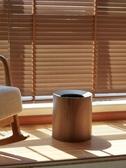 垃圾桶客廳雙層日式仿木紋垃圾桶簡約家用大號酒店臥室壓圈創意收納筒