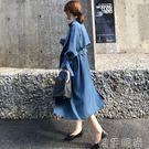 風衣外套 風衣女中長款韓版秋季新款西裝領長袖收腰寬鬆顯瘦女士過膝外套 唯伊時尚