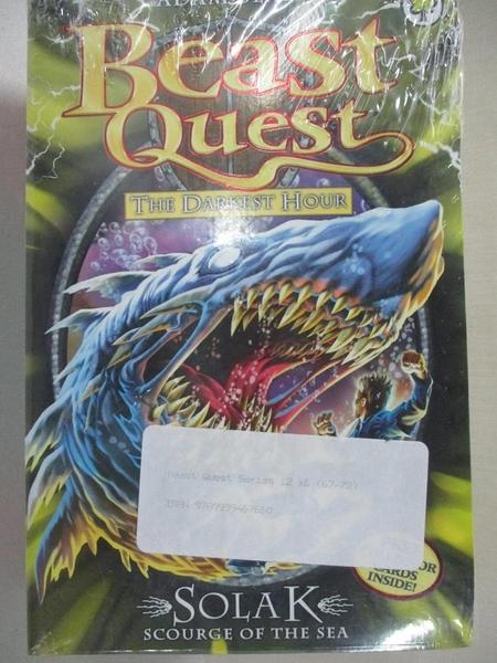 【書寶二手書T1/兒童文學_AFU】Beast Quest-Solak scourge of the sea等…共6本合售