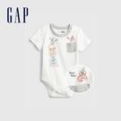 Gap嬰兒 Gap x Star Wars星際大戰系列刺繡包屁衣 803367-白色