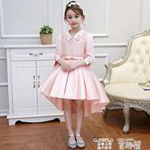 洋裝 女童公主裙晚禮服生日兒童洋氣花童寶寶演出服主持人連身裙秋款 童趣屋